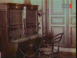 Telefonközpont kapcsolótáblája