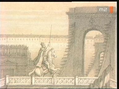 Koronázási kardvágás illusztrációja