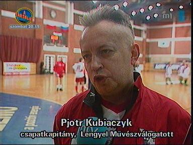 Pjotr Kubiaczyk, csapatkapitány, Lengyel Művészválogatott