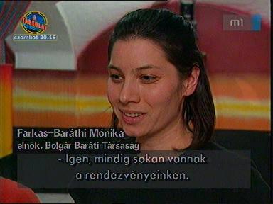 Farkas-Baráthi Mónika, elnök, Bolgár Baráti Társaság