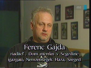 Ferenc Gajda, igazgató, Nemzetiségek Háza, Szeged