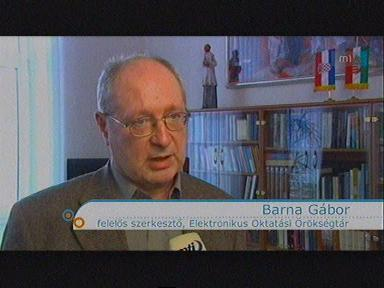 Barna Gábor, felelős szerkesztő, Elektronikus Oktatási Örökségtár