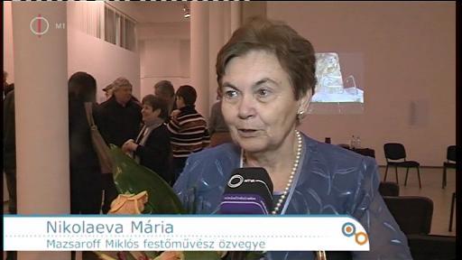 Nikolaeva Mária, Mazsaroff Miklós festőművész özvegye