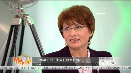 Forgácsné Pásztor Mária, tanár
