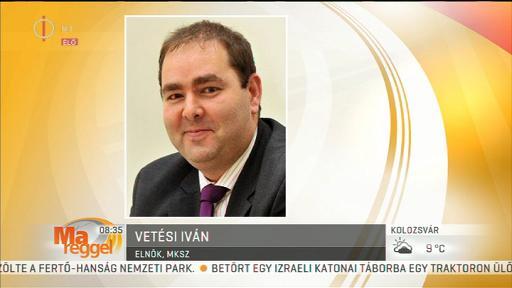 Vetési István, elnök, MKSZ