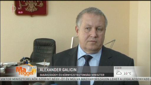 Alexander Galicin, sugárzásügyi és környezetbiztonsági miniszter