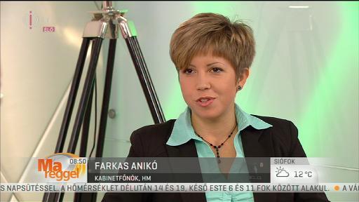 Farkas Anikó, kabinetfőnök, HM