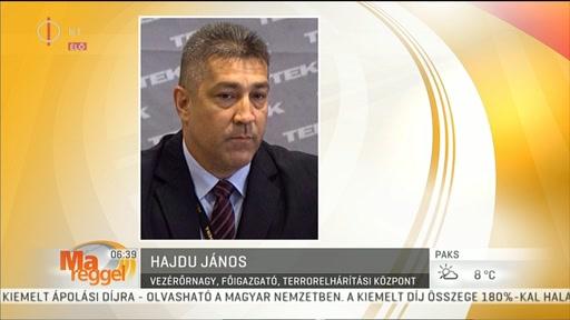 Hajdu János, vezérőrnagy, főigazgató, Terrorelhárítási Központ