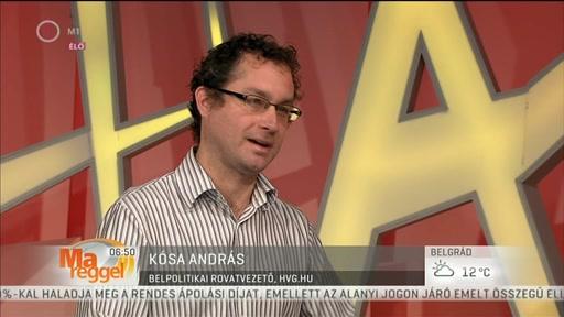 Kósa András, belpolitikai rovatvezető, hvg.hu