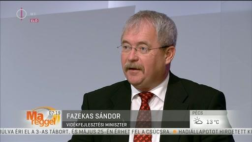 Dr. Fazekas Sándor, vidékfejlesztési miniszter
