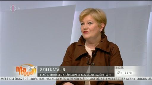Szili Katalin, elnök, Közösség a Társadalmi Igazságosságért Párt