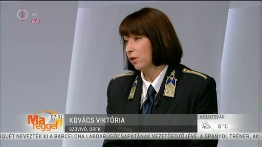 Kovács Viktória, szóvivő, ORFK
