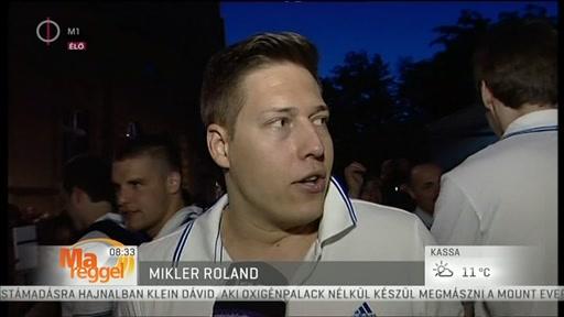 Mikler Roland, válogatott kézilabdázó
