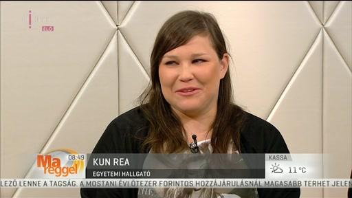 Kun Rea, egyetemi hallgató