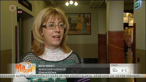 Bátki Margit, rendezvényszervező, Zeneakadémia