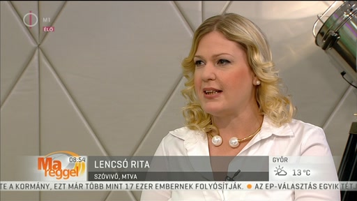 Lencsó Rita, szóvivő, MTVA