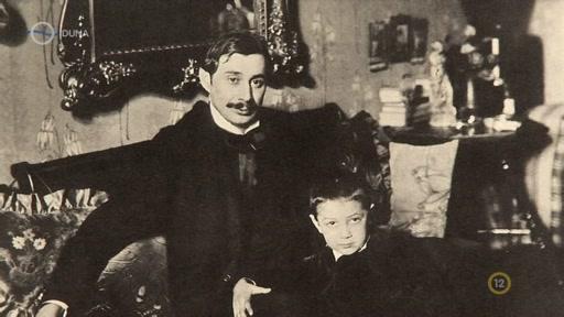 Krúdy Gyula [balra]
