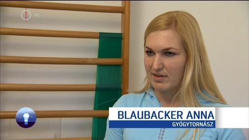 Blaubacker Anna, gyógytornász