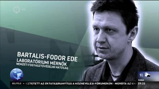 Bartalis-Fodor Ede, laboratóriumi mérnök, Nemzeti Fogyasztóvédelmi Hatóság