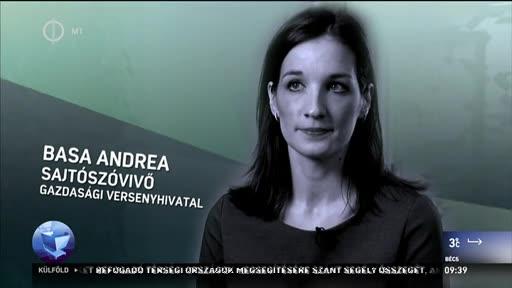 Basa Andrea, sajtószóvivő, Gazdasági Versenyhivatal