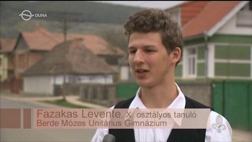 Fazakas Levente, tanuló, Berde Mózes Unitárius Gimnázium, Székelykeresztúr