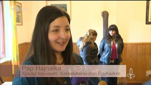 Pap Hajnalka, ifjúsági képviselő, Székelykeresztúri Egyházkör [elöl]