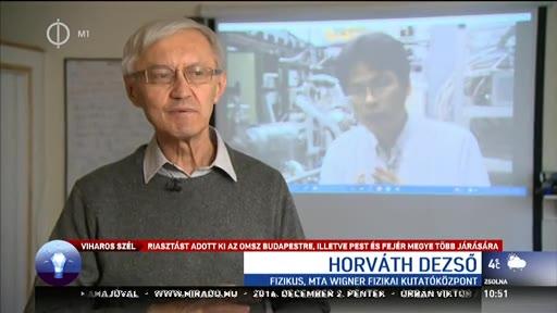 Horváth Dezső, fizikus, MTA Wigner Fizikai Kutatóközpont