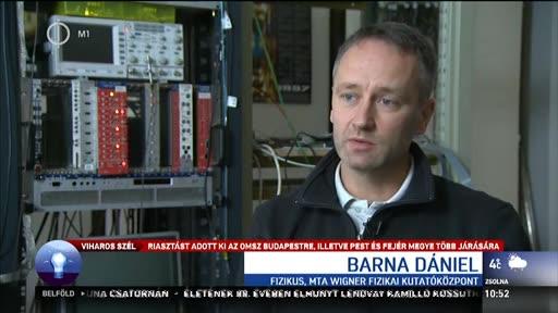 Barna Dániel, fizikus, MTA Wigner Fizikai Kutatóközpont