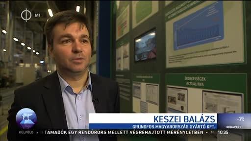 Keszei Balázs, karbantartási és energiairányítási vezető, Grundfos Magyarország Gyártó Kft.