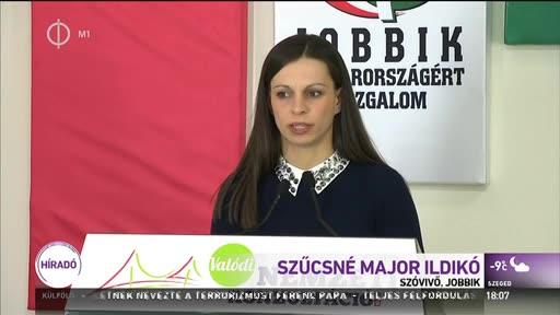 Szűcsné Major Ildikó (Jobbik), szóvivő