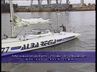 Alba Regia vitorláshajó (3. BOC Challenge Föld körüli vitorlásverseny) (1990 decembere)